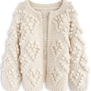 Chicwish Knit Your Love Cardigan in ivory